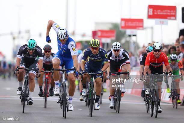 3rd Abu Dhabi Tour 2017 / Stage 2 Arrival / Caleb EWAN / Marcel KITTEL Celebration / Mark CAVENDISH Red Leader Jersey / Abu DhabiAl Maryah Island Abu...