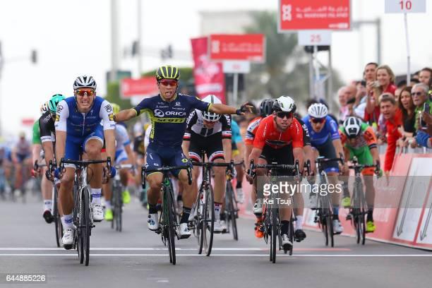 3rd Abu Dhabi Tour 2017 / Stage 2 Arrival / Caleb EWAN Celebration / Marcel KITTEL / Mark CAVENDISH Red Leader Jersey / Abu DhabiAl Maryah Island Abu...