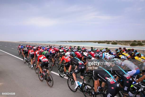 3rd Abu Dhabi Tour 2017 / Stage 2 Landscape / Peloton / Abu DhabiAl Maryah Island Abu DhabiBig Flag / Ride to Abu Dhabi / Nation Towers Stage /