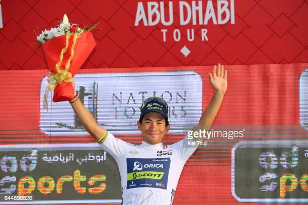 3rd Abu Dhabi Tour 2017 / Stage 2 Podium / Caleb EWAN / White Young Rider Jersey / Celebration / Abu DhabiAl Maryah Island Abu DhabiBig Flag / Ride...
