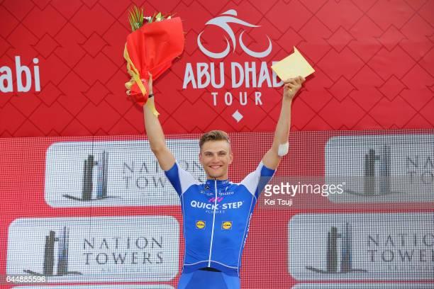3rd Abu Dhabi Tour 2017 / Stage 2 Podium / Marcel KITTEL Celebration / Abu DhabiAl Maryah Island Abu DhabiBig Flag / Ride to Abu Dhabi / Nation...