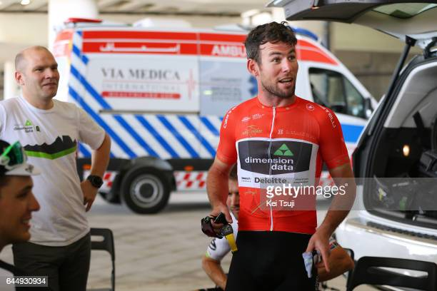 3rd Abu Dhabi Tour 2017 / Stage 2 Start / Mark CAVENDISH Red Leader Jersey / Abu DhabiAl Maryah Island Abu DhabiBig Flag / Ride to Abu Dhabi / Nation...