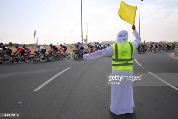 3rd Abu Dhabi Tour 2017 / Stage 2 Traffic control / Abu DhabiAl Maryah Island Abu DhabiBig Flag / Ride to Abu Dhabi / Nation Towers Stage /