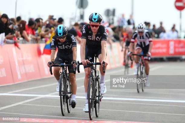 3rd Abu Dhabi Tour 2017 / Stage 3 Arrival / Kenny ELISSONDE / Tao GEOGHEGAN HART / Hazza Bin Zayed Stadium Jebel Hafeet 1025m / Ride to Abu Dhabi /...