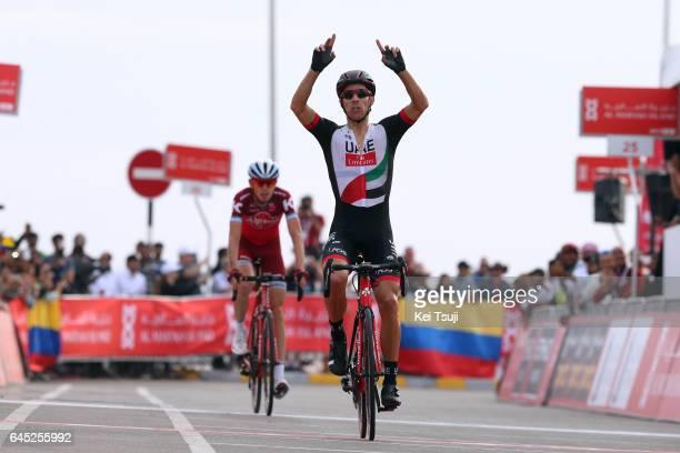 3rd Abu Dhabi Tour 2017 / Stage 3 Arrival / Rui Alberto FARIA DA COSTA Celebration / Ilnur ZAKARIN / Hazza Bin Zayed Stadium Jebel Hafeet 1025m /...