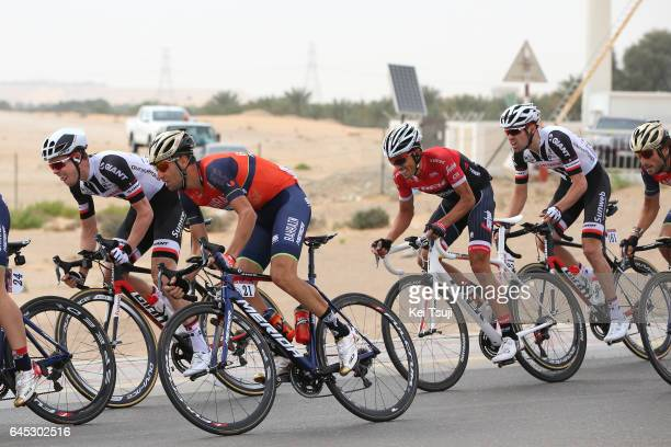 3rd Abu Dhabi Tour 2017 / Stage 3 Vincenzo NIBALI / Alberto CONTADOR VELASCO / Tom DUMOULIN / Hazza Bin Zayed Stadium Jebel Hafeet 1025m / Ride to...