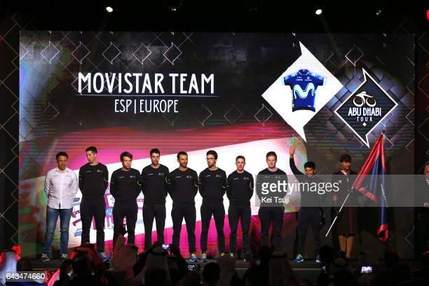 3rd Abu Dhabi Tour 2017 / Teams Presentation Team Movistar / Nairo QUINTANA ROJAS / Daniele BENNATI / Imanol ERVITI / Alex DOWSETT / Ruben FERNANDEZ...
