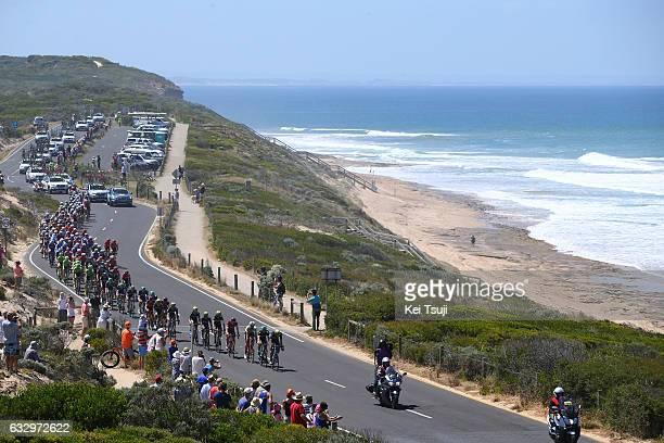 3rd Cadel Evans Great Ocean Road Race 2017 / Men Landscape / Peloton / Ocean / Geelong Waterfront Geelong Waterfront / Men / Great Ocean Road Race /...