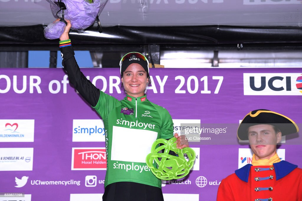 3rd Ladies Tour Of Norway 2017 / Prologue Podium / Marianne VOS (NED) Green Points Jersey / Celebration / Halden - Halden (3,4km) / Individual Time Trial / ITT / Women / TON /
