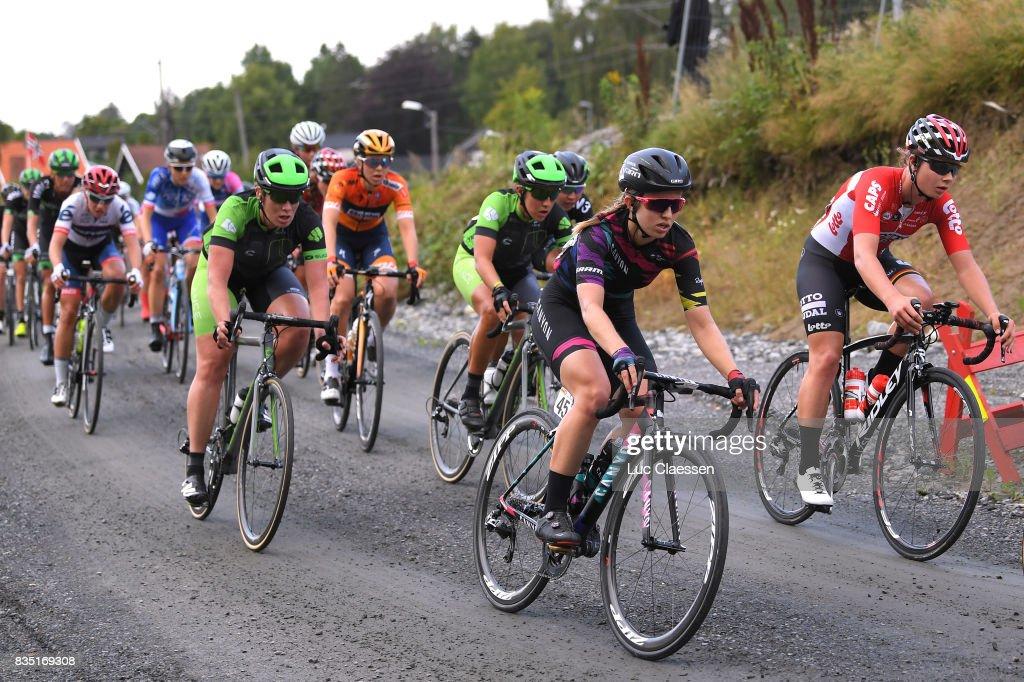 3rd Ladies Tour Of Norway 2017 / Stage 1 Alexis RYAN (USA)/ Lotte KOPECKY (BEL)/ Gravelroad/ Halden - Mysen (105km) / Women / TON /