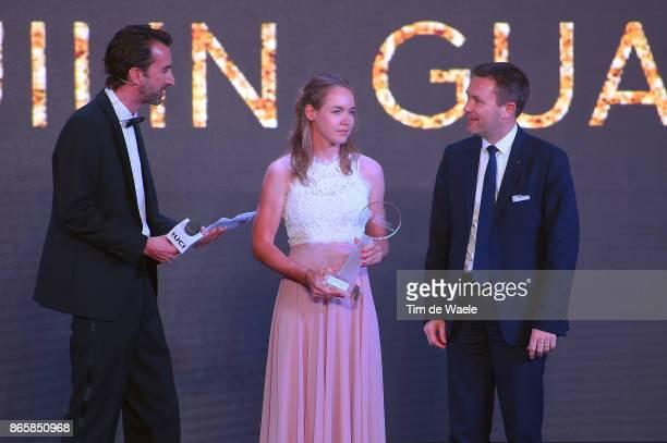 3rd UCI Gala Awards 2017 Anna VAN DER BREGGEN Best Rider Of The Year / David LAPPARTIENT UCI President / ShangriLa Hotel / UCI Gala Awards /