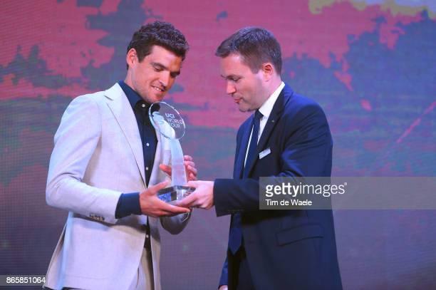 3rd UCI Gala Awards 2017 Greg VAN AVERMAET Best Rider Of The Year / David LAPPARTIENT UCI President / ShangriLa Hotel / UCI Gala Awards /