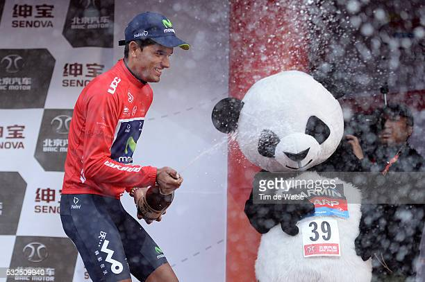 3th Tour of Beijing 2013 / Stage 5 Podium / INTXAUSTI ELORRIAGA Red Leader Jersey Celebration Joie Vreugde / Panda Champagne / Tian An Men Square...