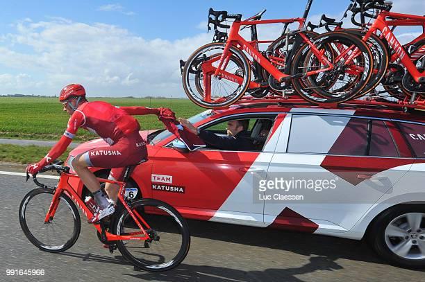 40Th 3 Days De Panne 2016 Stage 1/Morkov Michael Car Voiture Auto Sportsdirector De Panne Zottegem / Daagse Jours Rit Etape