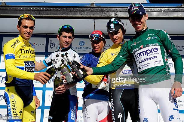 40th Volta Algarve 2014 / Stage 4 Podium/ Alberto CONTADOR / Valter PEREIRA Michal KWIATKOWSKI / Rui COSTA / Celebration Joie Vreugde / AlmodovarAlto...
