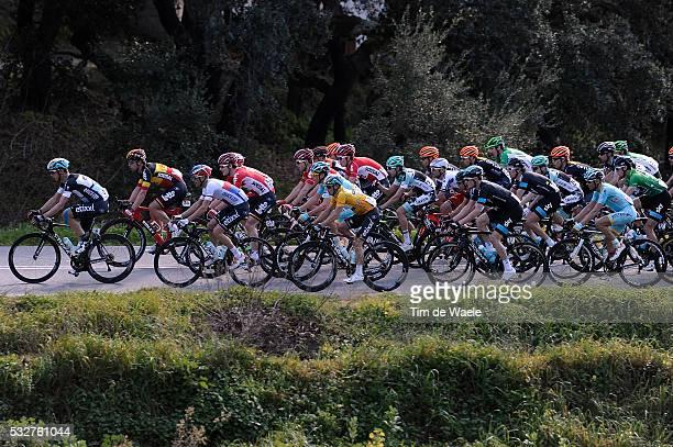 41th Volta Algarve 2015 / Stage 2 Illustration Illustratie/ Peloton Peleton/ Landcape Paysage/ Gianni MEERSMAN Yellow Leader Jersey/ Lagoa-Monchique...