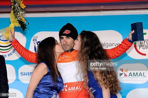 41th Volta Algarve 2015 / Stage 2 Podium/ Tiago MACHADO Orange Jersey/ Celebration Joie Vreugde/ Lagoa-Monchique /Etape Rit/ Algarve/ Tim De Waele