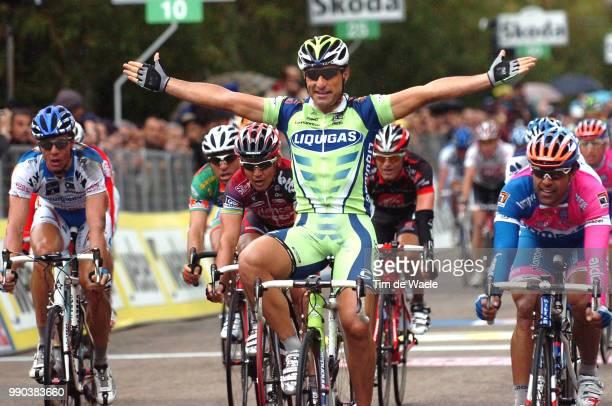 43E Tirreno Adriatico Stage 7Arrival Francesco Chicchi Celebration Joie Vreugde Danilo Napolitano Mark Cavendish Robbie Mcewen Danilo Hondo...