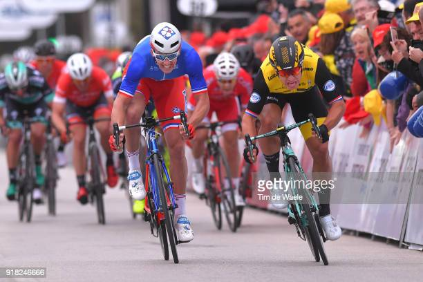 44th Volta Algarve 2018 / Stage 1 Arrival / Sprint / Dylan Groenewegen of The Netherlands / Arnaud Demare of France / Albufeira Lagos / Algarve /