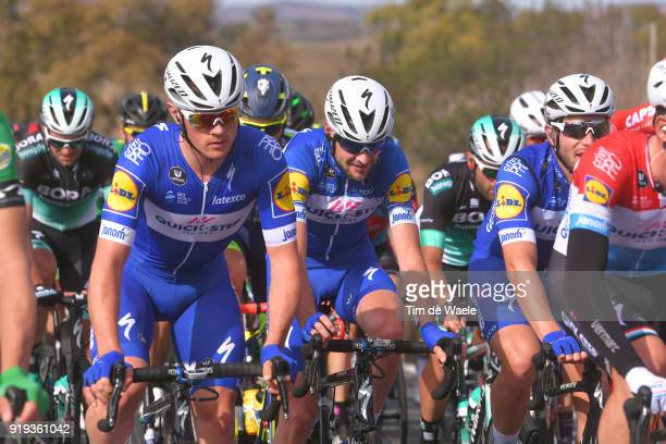 44th Volta Algarve 2018 / Stage 4 Yves Lampaert of Belgium / Pieter Serry of Belgium / Almodovar Tavira / Algarve /