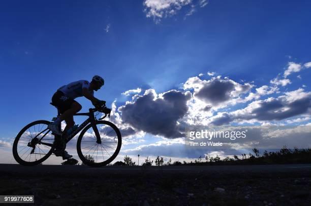 44th Volta Algarve 2018 / Stage 5 Michal Golas of Poland / Landscape / Silhouet / Cloud / Sky / Faro Alto Do MalhaoLoule 518m / Algarve /