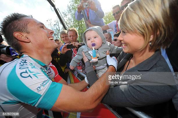 46th Amstel Gold Race 2011 Arrival / Philippe GILBERT + Patricia ZEEVAERT Wife Femme Vrouw + Allan GILBERT Son Fils Zoon / Celebration Joie Vreugde /...