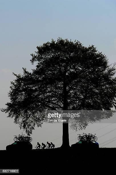 49th Amstel Gold Race 2014 Illustration Illustratie / Peleton Peloton / Silhouet / Team Car / Landscape Paysage Landschap / Maastricht Valkenburg /...