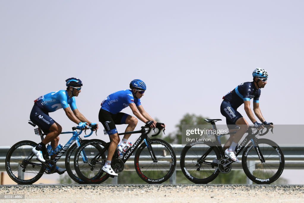 4th Abu Dhabi Tour 2018 / Stage 1 David Lozano of Spain / Sergey Firsanov of Rusia /  Daniele Bennati of Italy / Madinat Zayed - Madinat Zayed-Adnoc School (189km)/ Al Fahim Stage / Ride to Abu Dhabi /