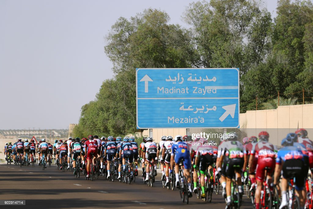 4th Abu Dhabi Tour 2018 / Stage 1 Landscape / Peloton / Madinat Zayed - Madinat Zayed-Adnoc School (189km)/ Al Fahim Stage / Ride to Abu Dhabi /