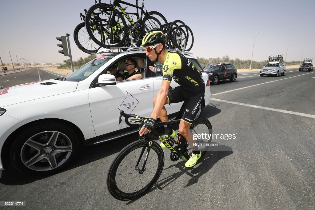 4th Abu Dhabi Tour 2018 / Stage 1 Roman Kreuziger of Czech Republic / Team Mitchelton-Scott of Australia / Car / Madinat Zayed - Madinat Zayed-Adnoc School (189km)/ Al Fahim Stage / Ride to Abu Dhabi /