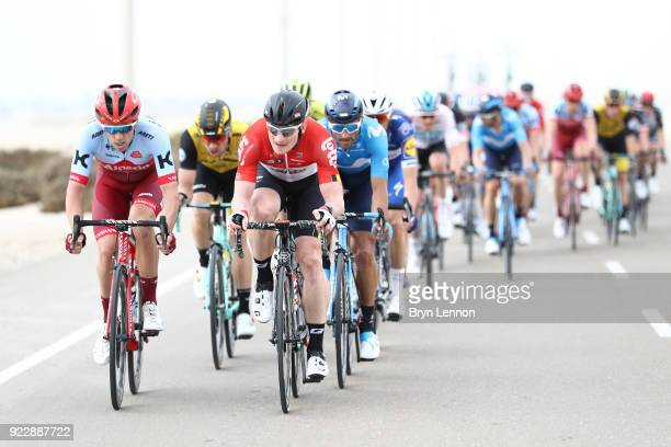 4th Abu Dhabi Tour 2018 / Stage 2 Andre Greipel of Germany /  Alex Dowsett of Great Britain / Yas Mall Yas Beach / Yas Island Stage / Ride to Abu...