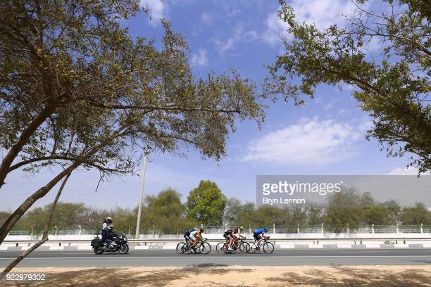 4th Abu Dhabi Tour 2018 / Stage 2 Joey Rosskopf of The United States / Alexander Porsev of Rusia /  Charles Planet of France / Jaco Venter of South...