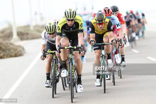 4th Abu Dhabi Tour 2018 / Stage 2 Roger Kluge of Germany / Caleb Ewan of Australia White Best Young Rider Jersey / Robert Wagner of Germany / Yas...