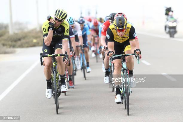 4th Abu Dhabi Tour 2018 / Stage 2 Roger Kluge of Germany / Robert Wagner of Germany / Yas Mall Yas Beach / Yas Island Stage / Ride to Abu Dhabi / ©...