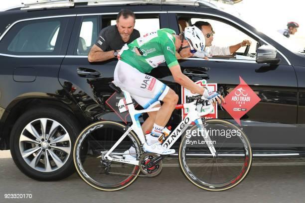 4th Abu Dhabi Tour 2018 / Stage 3 Alexander Kristoff of Norway Green Points Jersey / Crash / Injury / Team UAETeam Emirates / Car / Doctor / Medical...