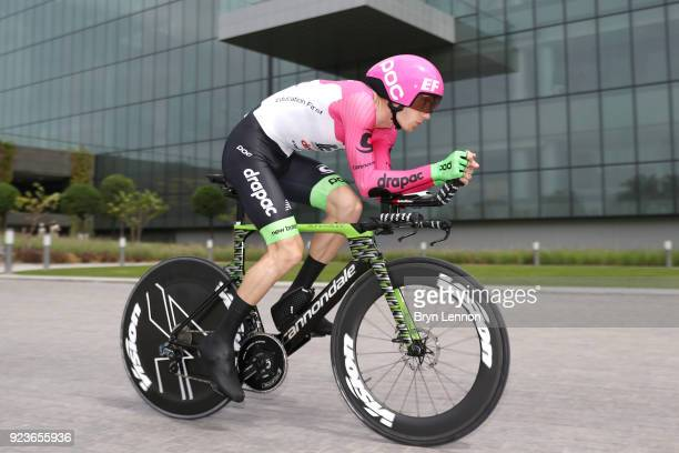 4th Abu Dhabi Tour 2018 / Stage 4 Pierre Rolland of France / Time Trial / ITT / Al Maryah Island Stage / Ride to Abu Dhabi / Photo by Bryn...
