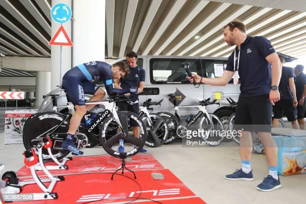 4th Abu Dhabi Tour 2018 / Stage 4 Start / Charles Planet of France / Colnago Bike / Mechanic / Team Novo Nordisk of The United States / Al Maryah...