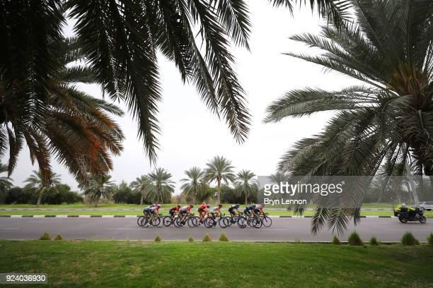 4th Abu Dhabi Tour 2018 / Stage 5 Nikolay Trusov of Rusia Black Intermediate Sprint Jersey / Matthias Brandle of Austria / Andre Greipel of Germany /...