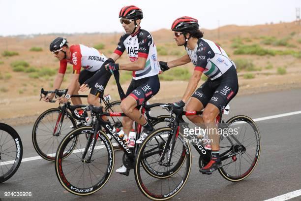 4th Abu Dhabi Tour 2018 / Stage 5 Roberto Ferrari of Italy / Manuele Mori of Italy / Al Ain - Jebel Hafeet 1025m / Abu Dhabi Airports Stage / Ride to...