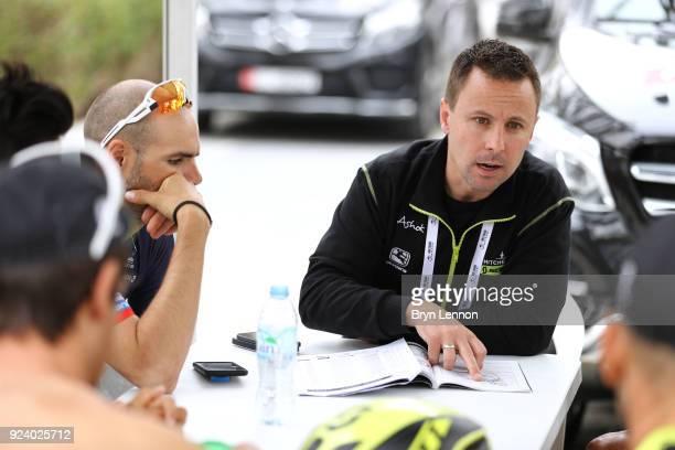 4th Abu Dhabi Tour 2018 / Stage 5 Start / David McPartland of Australia Sports Director Team MitcheltonScott of Australia / Al Ain Jebel Hafeet 1025m...