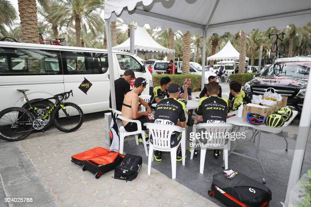 4th Abu Dhabi Tour 2018 / Stage 5 Start / David McPartland of Australia Sports Director / Simon Yates of Great Britain / Caleb Ewan of Australia /...