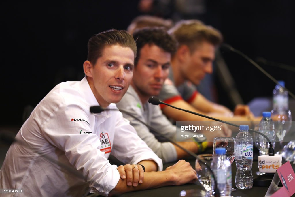 4th Abu Dhabi Tour 2018 / Top Riders Press Conference Rui Costa of Portugal / Yas Marina F1 Circuit / PC / Ride to Abu Dhabi /