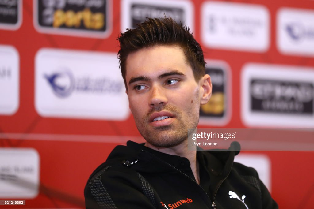 4th Abu Dhabi Tour 2018 / Top Riders Press Conference Tom Dumoulin of The Netherlands / Yas Marina F1 Circuit / PC / Ride to Abu Dhabi /