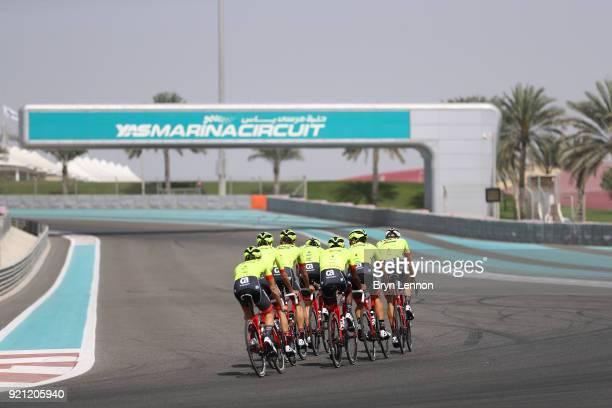 4th Abu Dhabi Tour 2018 / Training Gianluca Brambilla of Italy / Matthias Brandle of Austria / Niklas Eg of Denmark / Alex Frame of New Zealand /...