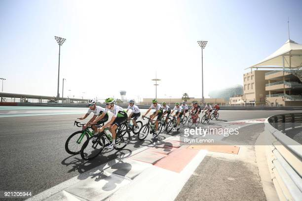 4th Abu Dhabi Tour 2018 / Training Stephen Cummings of Great Britain / Luke Rowe of Great Britain / Mark Cavendish of Great Britain / Yas Marina F1...