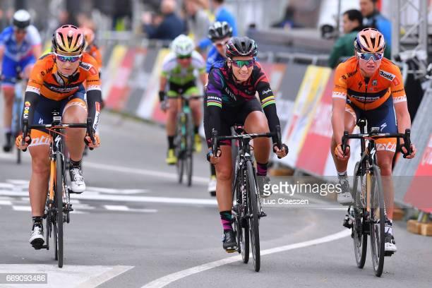 4th Amstel Gold Race 2017 / Women Arrival / Amy PIETERS / Pauline FERRAND PREVOT / Chantal BLAAK / Maastricht Valkenburg / Women /