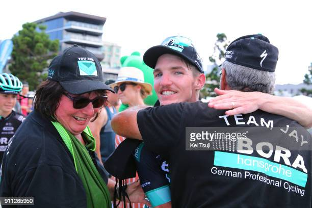 4th Cadel Evans Great Ocean Road Race 2018 / Men Arrival / Jay MCCARTHY / Celebration / Father / Mother / Geelong Waterfront Geelong Waterfront /...