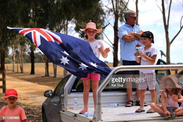 4th Cadel Evans Great Ocean Road Race 2018 / Men Australian Flag / Fans / Geelong Waterfront Geelong Waterfront / Great Ocean Road Race /