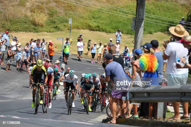 4th Cadel Evans Great Ocean Road Race 2018 / Men Jack BAUER / Owain DOULL / Peloton / Geelong Waterfront Geelong Waterfront / Great Ocean Road Race /