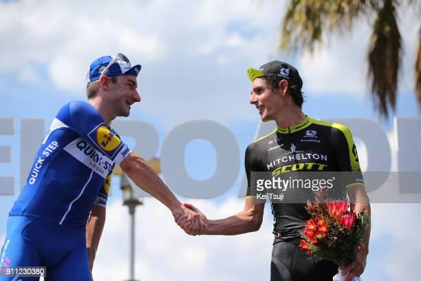 4th Cadel Evans Great Ocean Road Race 2018 / Men Podium / Daryl IMPEY / Elia VIVIANI / Celebration / Geelong Waterfront Geelong Waterfront / Great...
